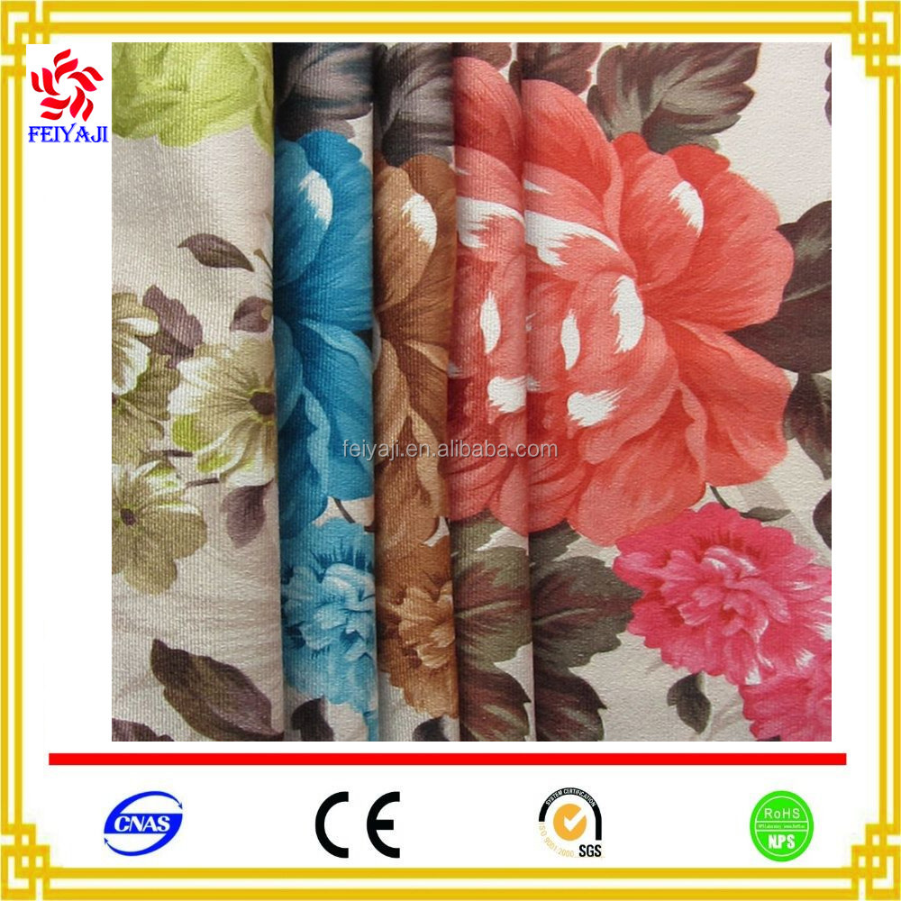 Wholesale Names 2017 Fashion Design Water Print Curtain Fabric