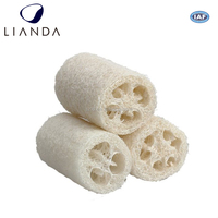 Eco-friendly Natural Materials Body wash sponge with extension handle