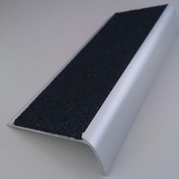 Aluminium Extruded Stair Nosing Slimline With Black