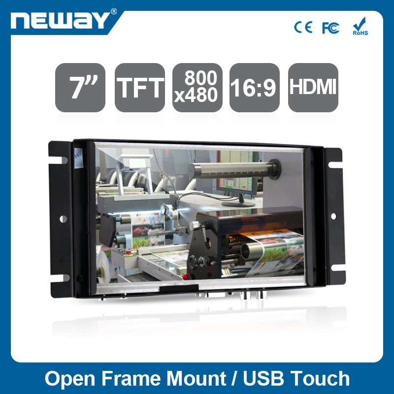 7 Inch Open Frame Touch Screen Head Up Display Lcd Monitor For Pos ...