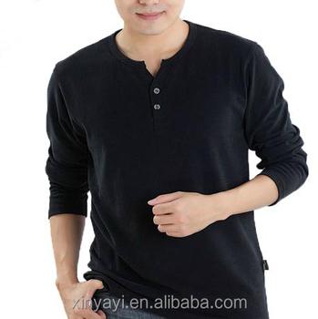 Al por mayor moda diseño t Camisas de manga larga con cuello en V camisetas 507d002838a