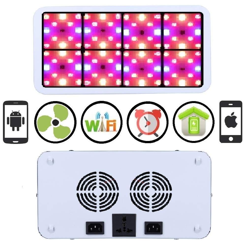 Farmedicine WiFi 800W LED Smart 120° 8-Panel Rectangle Shaped Grow Light for Indoor Hydroponic Cultivation
