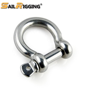SS316 stainless european type bow shackle/china factory/rigging hardware