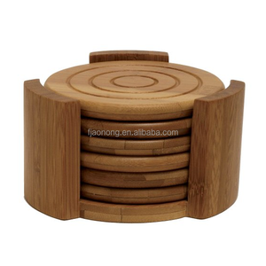 Aonong Bamboo Collection 7-Piece Coaster Set/Cup Coaster/Cup Mat