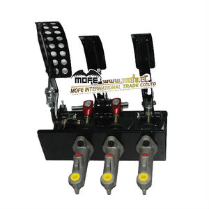 "Universal racing 0.7"" master Cylinders drift Hydraulic brake Pedal Box kit"