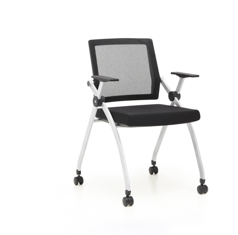 Mesh Seat Office Chair Hot Sales Conference Chair With Wheels For Conference Room ...