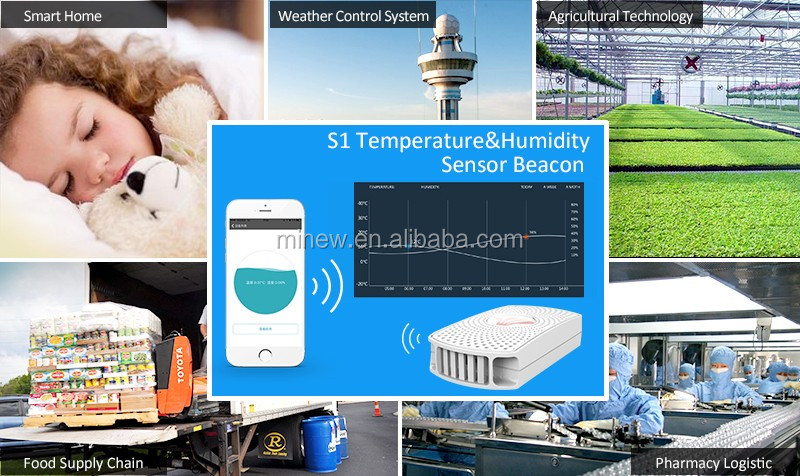 new coming nRF52832 ble temperature and humidity sensor beacon