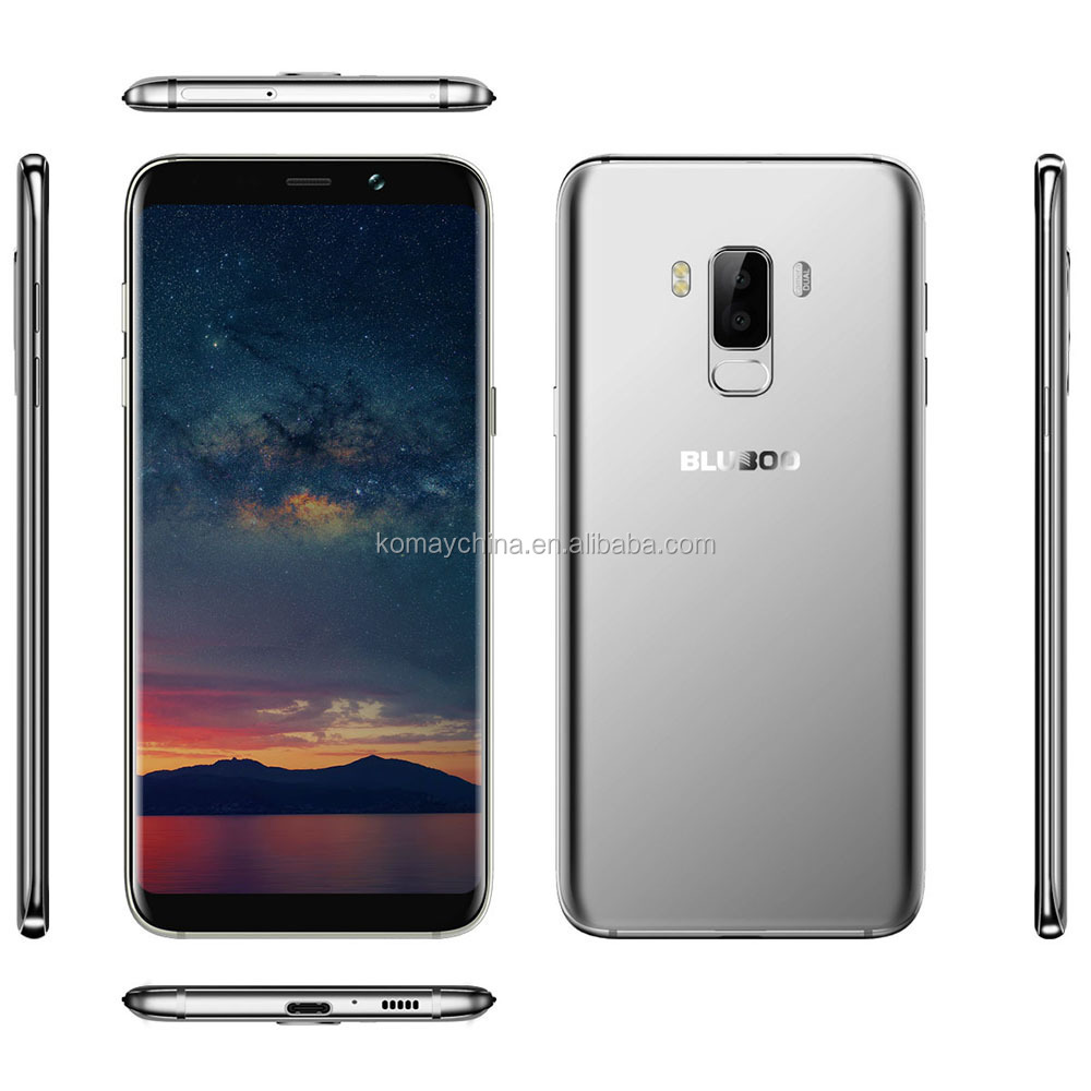 Bluboo S8 Plus 18:9 6.0 Inch 4G Smartphone Android 7.0 4GB+64GB MTK6750T Octa Core 16MP 13MP Dual Cams Touch ID Moblie Phone