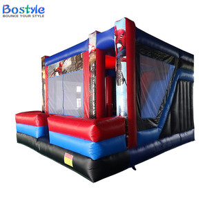 Cheap inflatable spider man bouncer, inflatable bouncer slide combo for sale