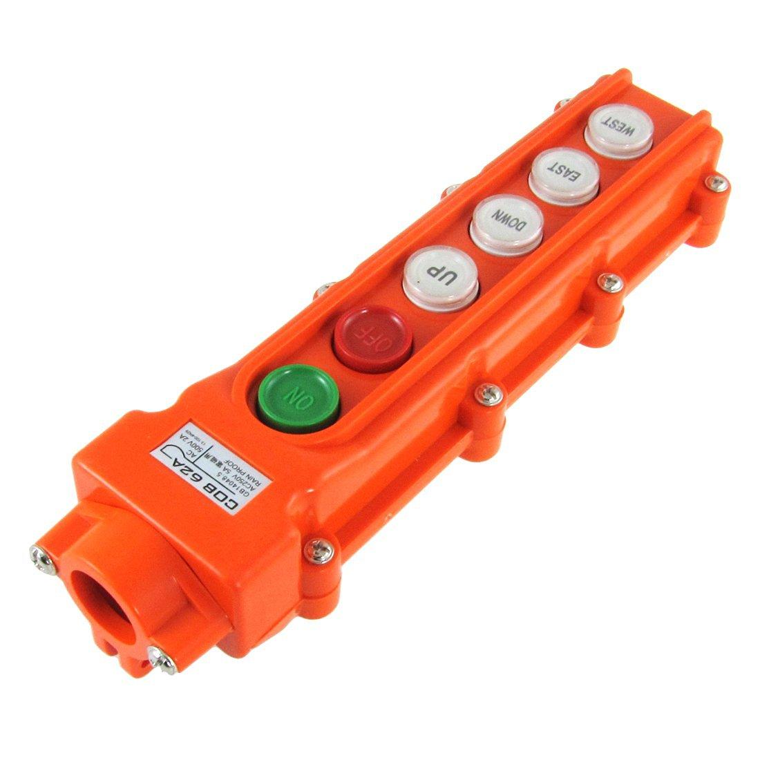 1PC COB-62A  Hoist And Crane Pendant Control Station Push Button Switch 6 Ways