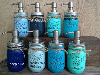 Mason Jar Soap Dispensers Lotion Bath Set Farmhouse Dispenser
