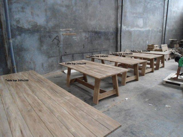 Eetkamer Tafel Teak.Rustic Teak Table Teak Tafel Tuinset Eetkamertafel Buy Garden