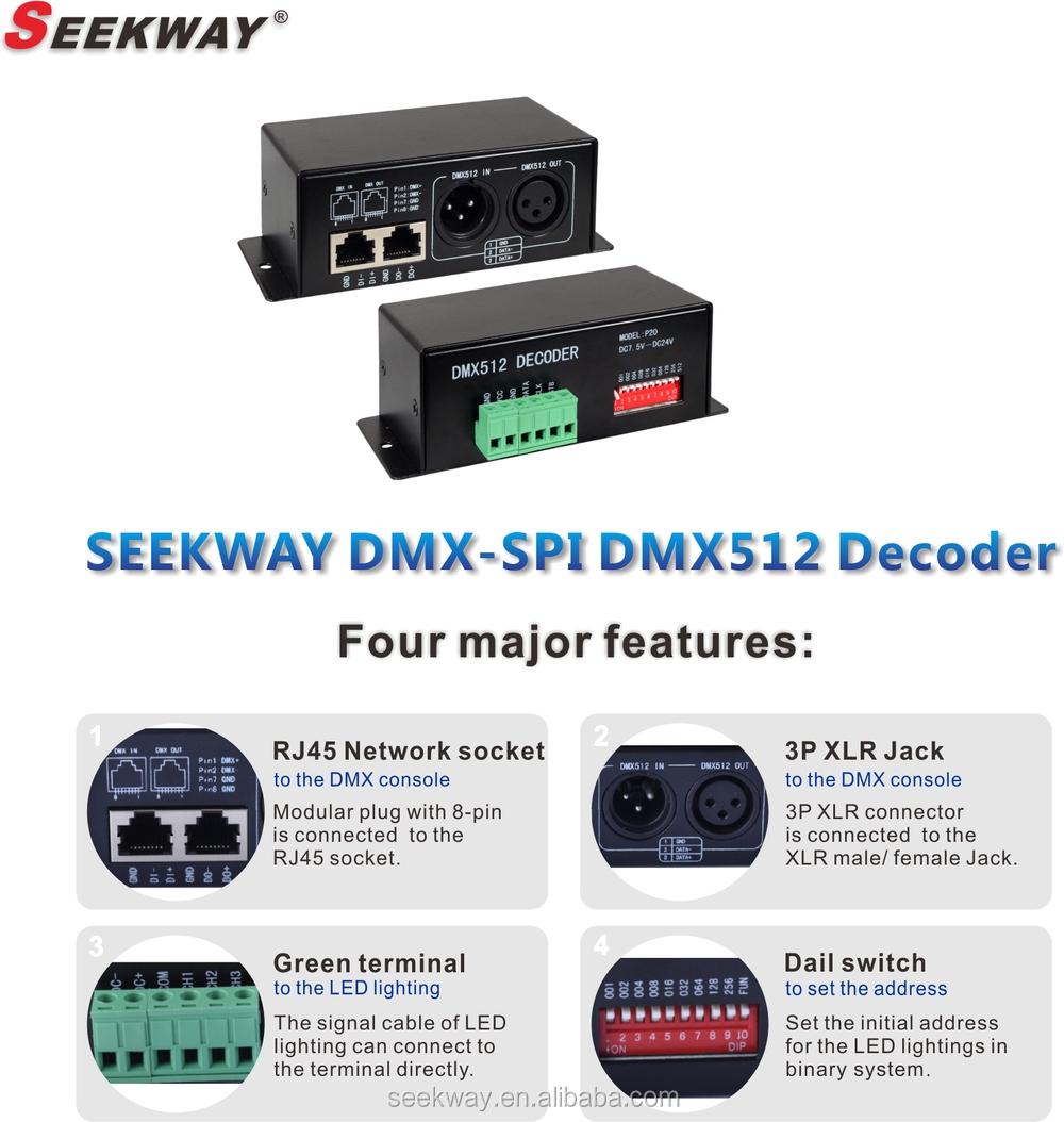 Seekway Ds02 Dmx-spi Signal Decoder Compatible For Seekay D01j ...