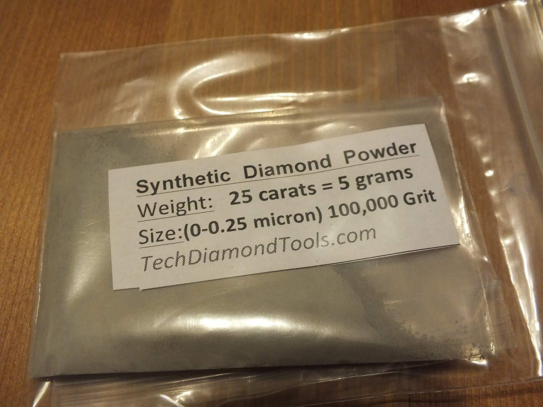 Diamond Powder 100,000 Grit - 0-0.25 Microns - 50 Carat = 10 Grams