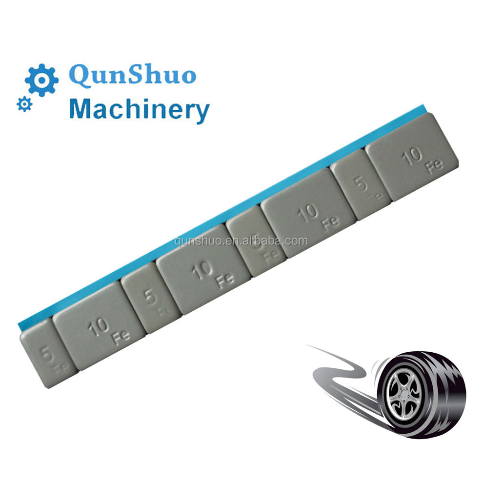 Fe Adhesive 5g+10g Wheel Balance Weights With Plastic Coating Wide ...