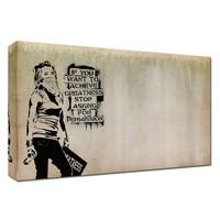 Graffiti Statement Art Paint Wooden Paintings