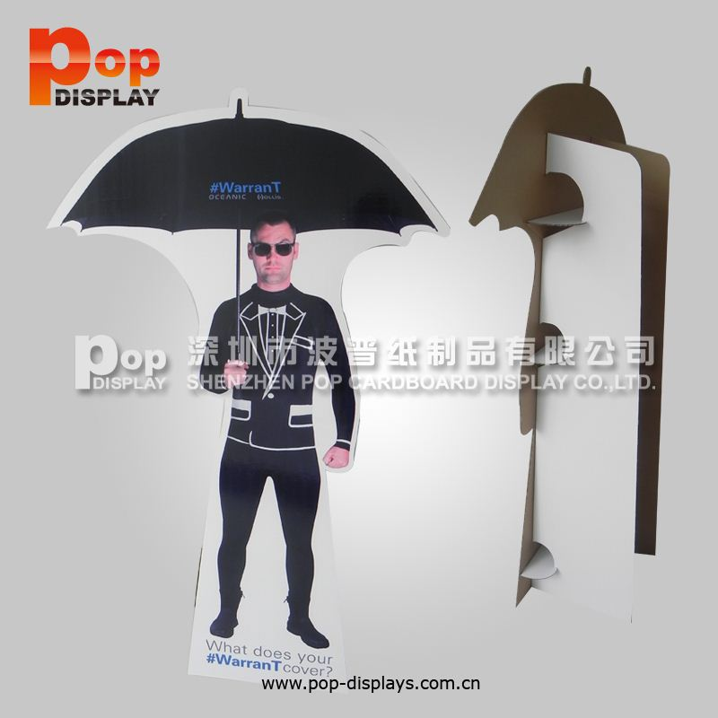 Cardboard Advertising Display Stands , Life size cutouts