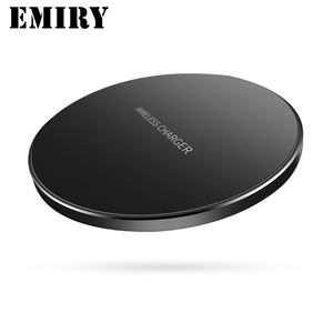 10W Qi Wireless Charger for iPhone X/8/8 Plus/Samsung Galaxy Note 8/S9/S9+/S8 Ultra Thin Slim Aluminium Alloy Fast Charging Pad