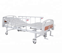 2 cranks manual hospital bed with ABS head and foot board CY-A102