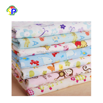 China supplier cute soft brushed 100% cotton flannel fabric 20x10 for bed sheet/baby blanket /garment