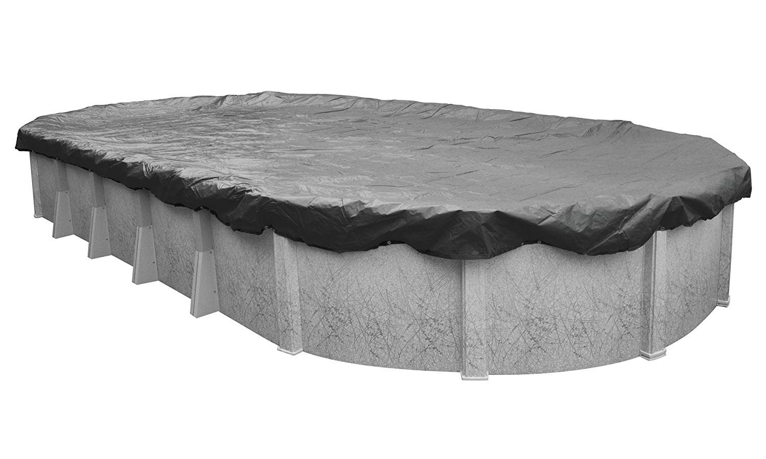 Pool Mate 511833-4-PM 20-Year Professional-Grade Winter Oval Above-Ground Cover, 18 x 33-ft, Charcoal