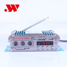 professional 4 channel sound digital display car motorcycle audio amplifier