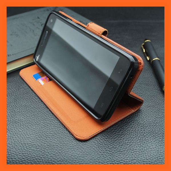 Folio Brown PU Leather Flip Case for Explay Fresh