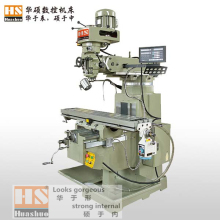 5H economic vertical rocker turret milling machine with Taiwan milling head
