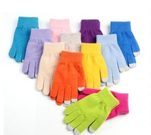 2015 Skate Blank Personalized Cheap Winter Warm Knit Acrylic Gloves