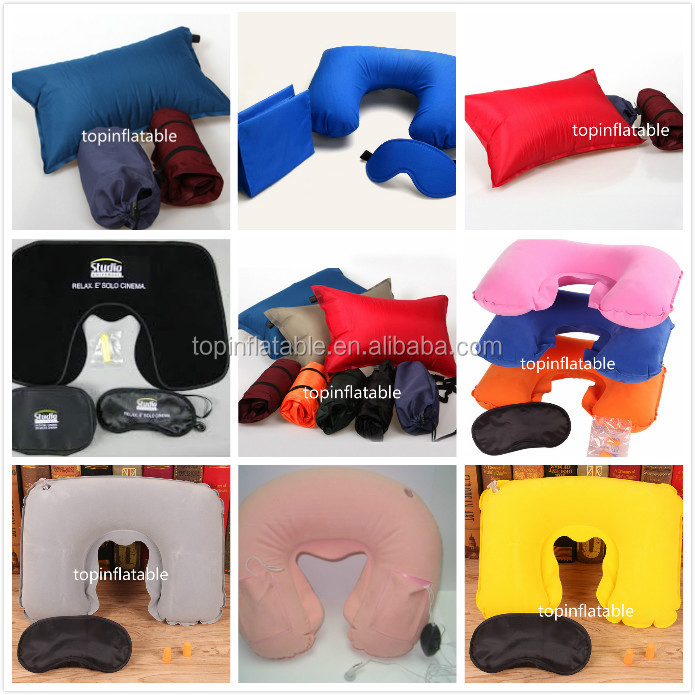 Hot sell Eco-friendly PVC inflatable pillow for head car seat
