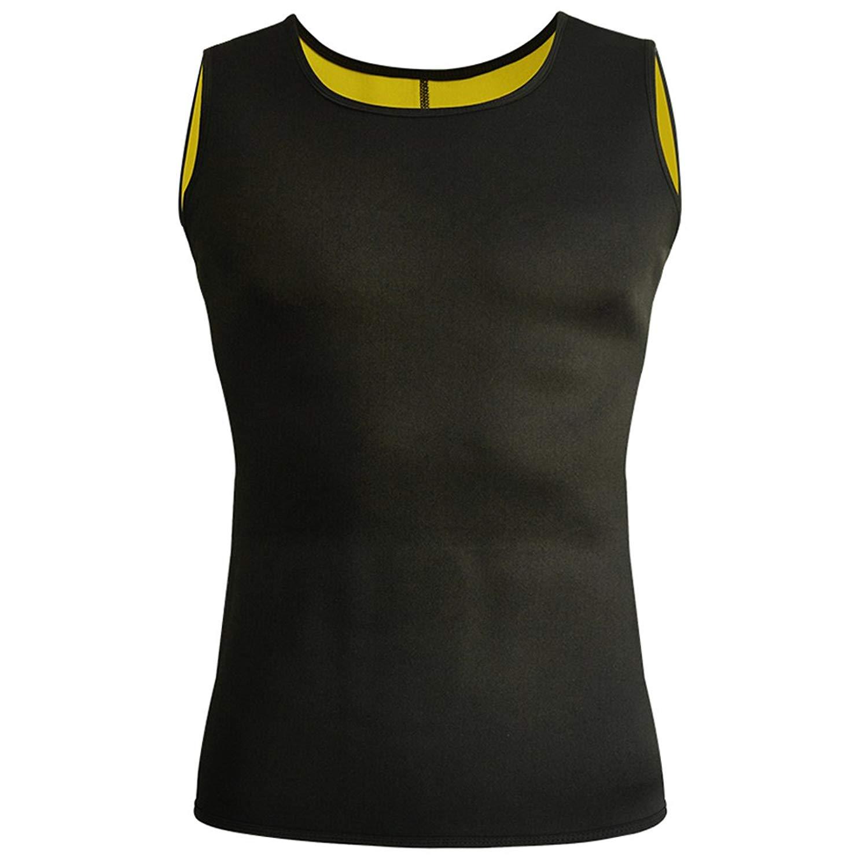 8993b92db6 Get Quotations · GZXISI Men s Body Shaper Slimming Shirt Hot Sweat Vest  Neoprene Workout Tank Top Waist Trainer Corset
