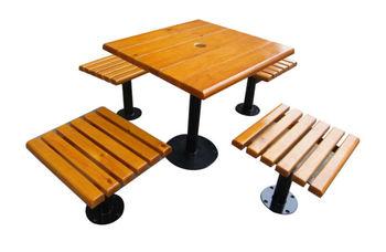 Modern design openbare tuin houten tuin tafel en bank buy houten