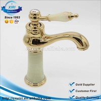 New products luxury single lever marble body bathroom sink gold faucet D8515(GOLD)