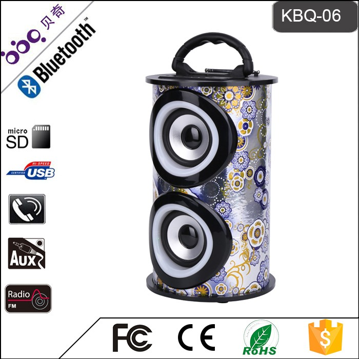 Modern design machine bluetooth dj speakers with certificate