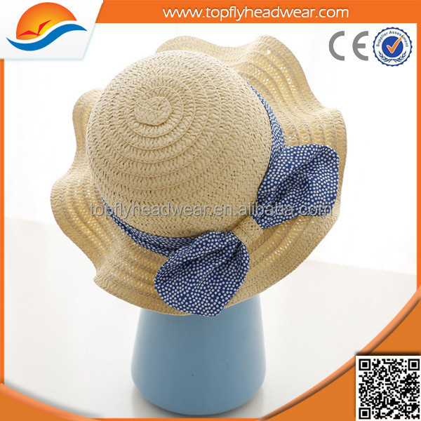 Hot selling cute baby /children straw hat/kids straw caps