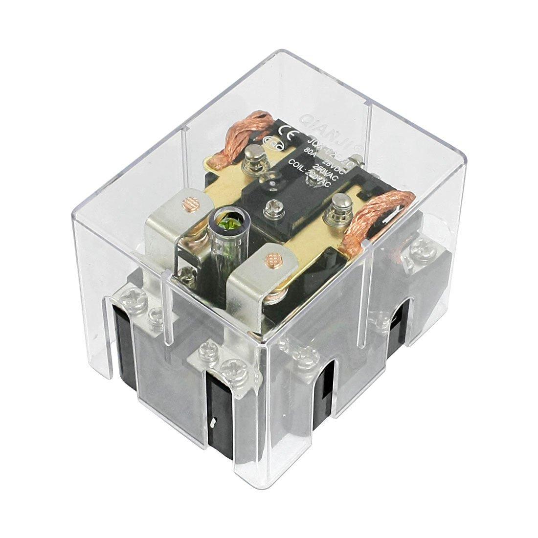 Buy Uxcell JQX62F2C Coil Voltage AC 220V 80 Amp DPDT