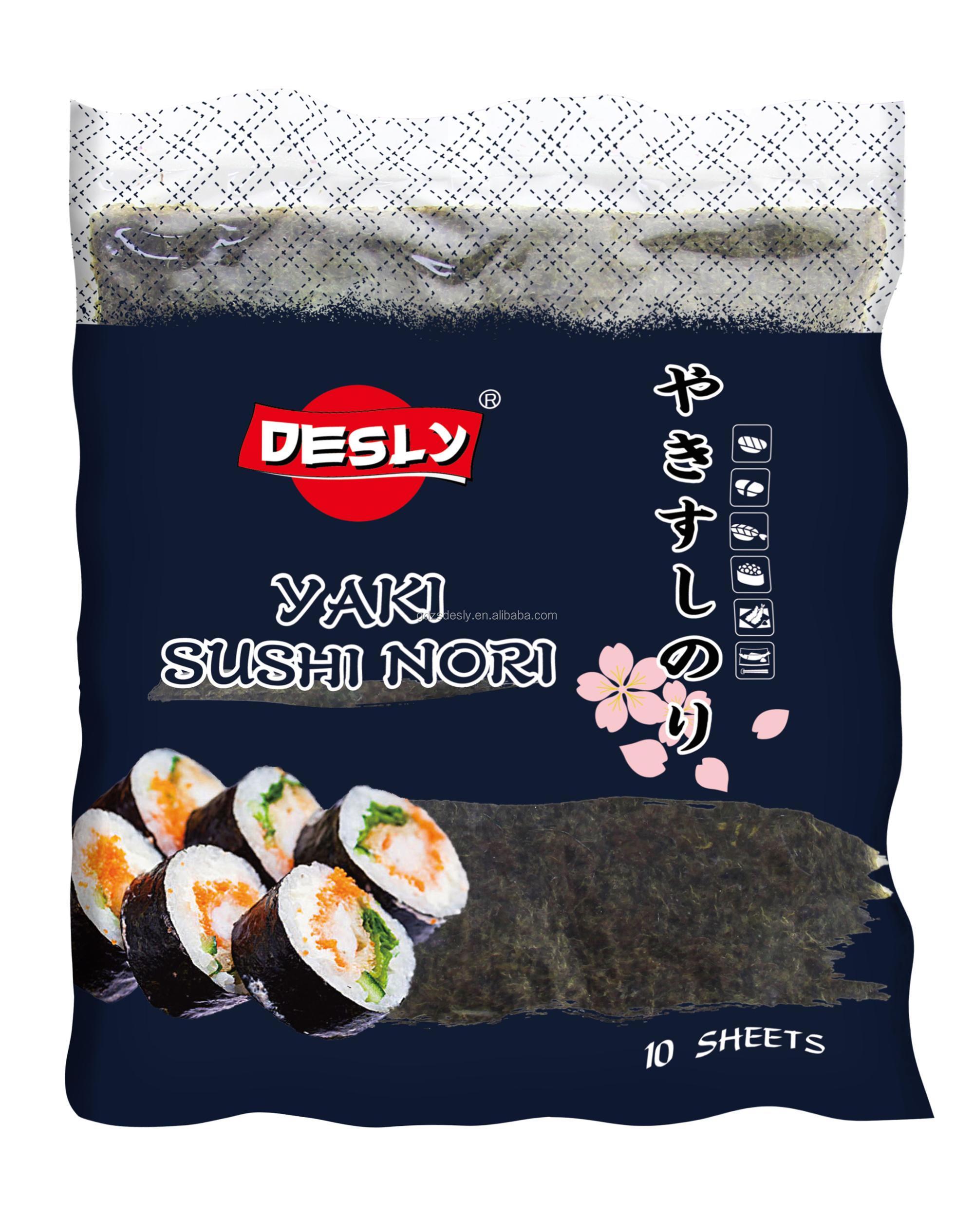 Japanese Yaki Roasted Seaweed Sushi Nori Bulk Wholesale OEM Factory
