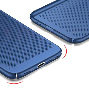 Lowest price For iPhone X XS Max XR Case Fashion Hollow Heat Dissipation Hard PC case