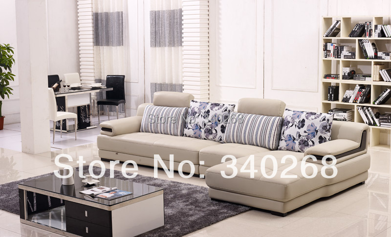 New Arrival Modern Style Leather Sofa With Cushions L