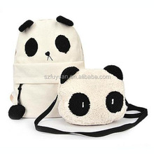 Wholesale kids panda zoo animal school backpack with fashion design