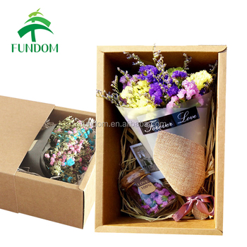 Online Shopping Gift Packing And Shipping Cheap Dry Flower Box For Birthday