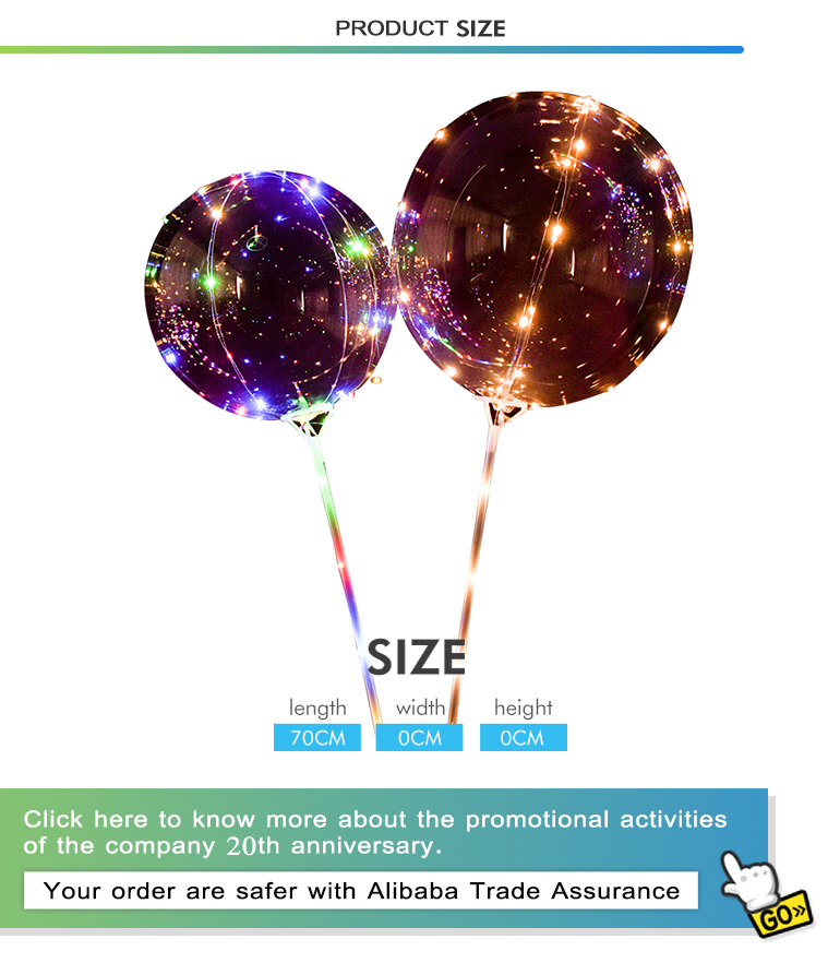 China manufacturer birthday toy luminous decoration set lighting light party led balloon