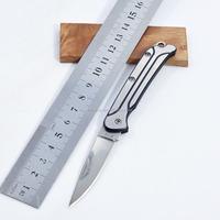 Portable stainless steel folding blade utility pocket knife
