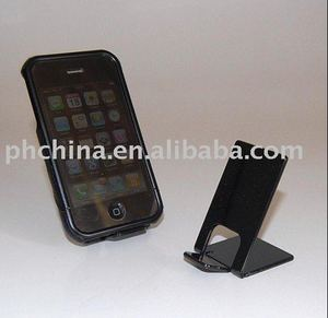 Black Acrylic Mobile Phone Display Stand,Single Acrylic Mobile Phone Holder