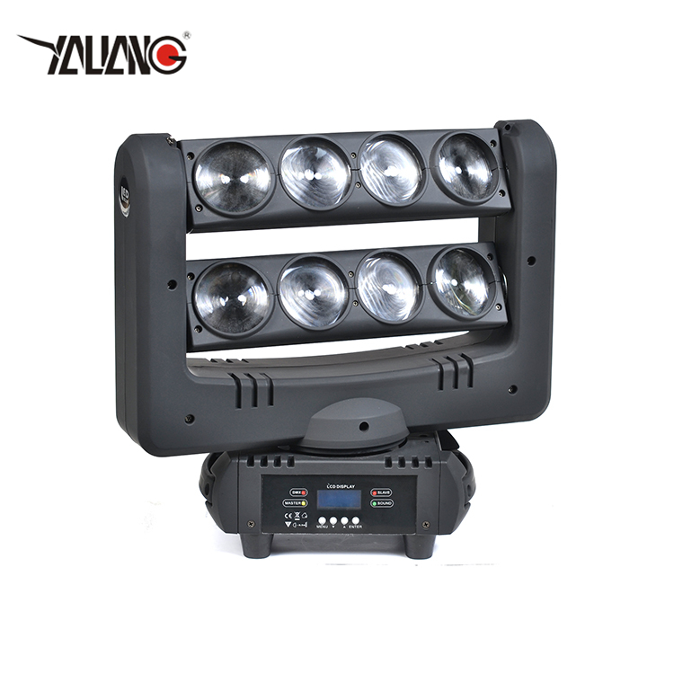 Factory directly sell 8 pcs full color stage party club led moving head spider light