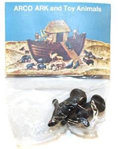 ARCO Noah's Ark Seals Plastic Toys on Card NOS