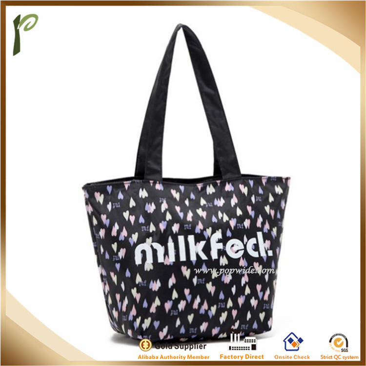 Popwide Hot Selling High Quality Polyester Waterproof Shopping Tote Bag