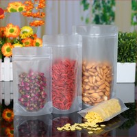 Transparent Plastic Spout Opp Frosted Ziplock Packing Bag For Nuts