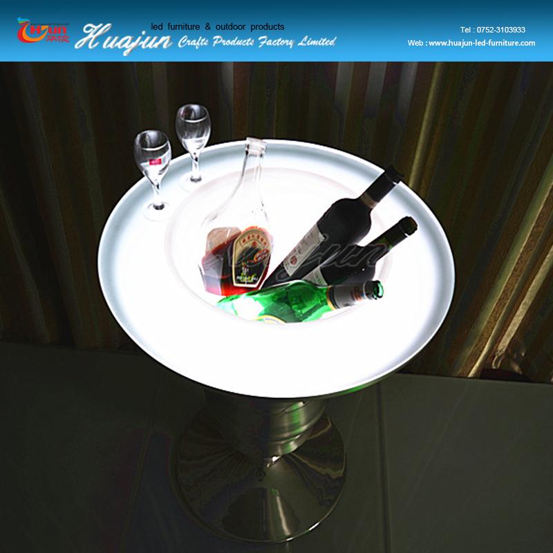 LED-licht wijnkoeler, ijsemmer tafel, led bar tafel-Emmers, koelers en ...