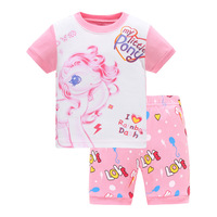 2019 New Style Pyjamas kids 100 cotton cartoon 100% pajamas summer clothing sets